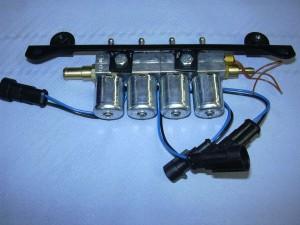 Autogas Umrüstung - Injektorrail Einspritzdüsen